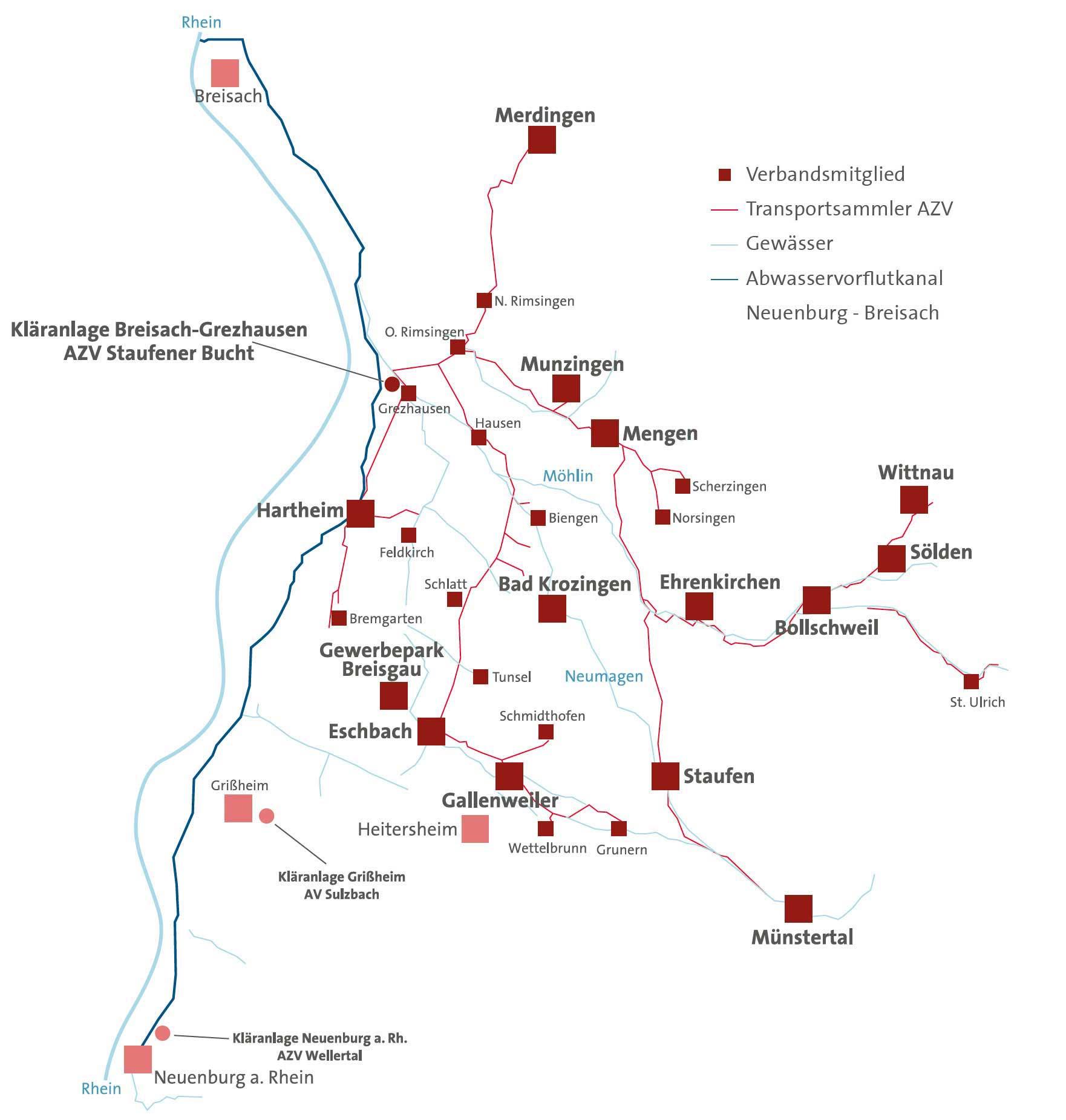 Das AZV-Verbandsnetz