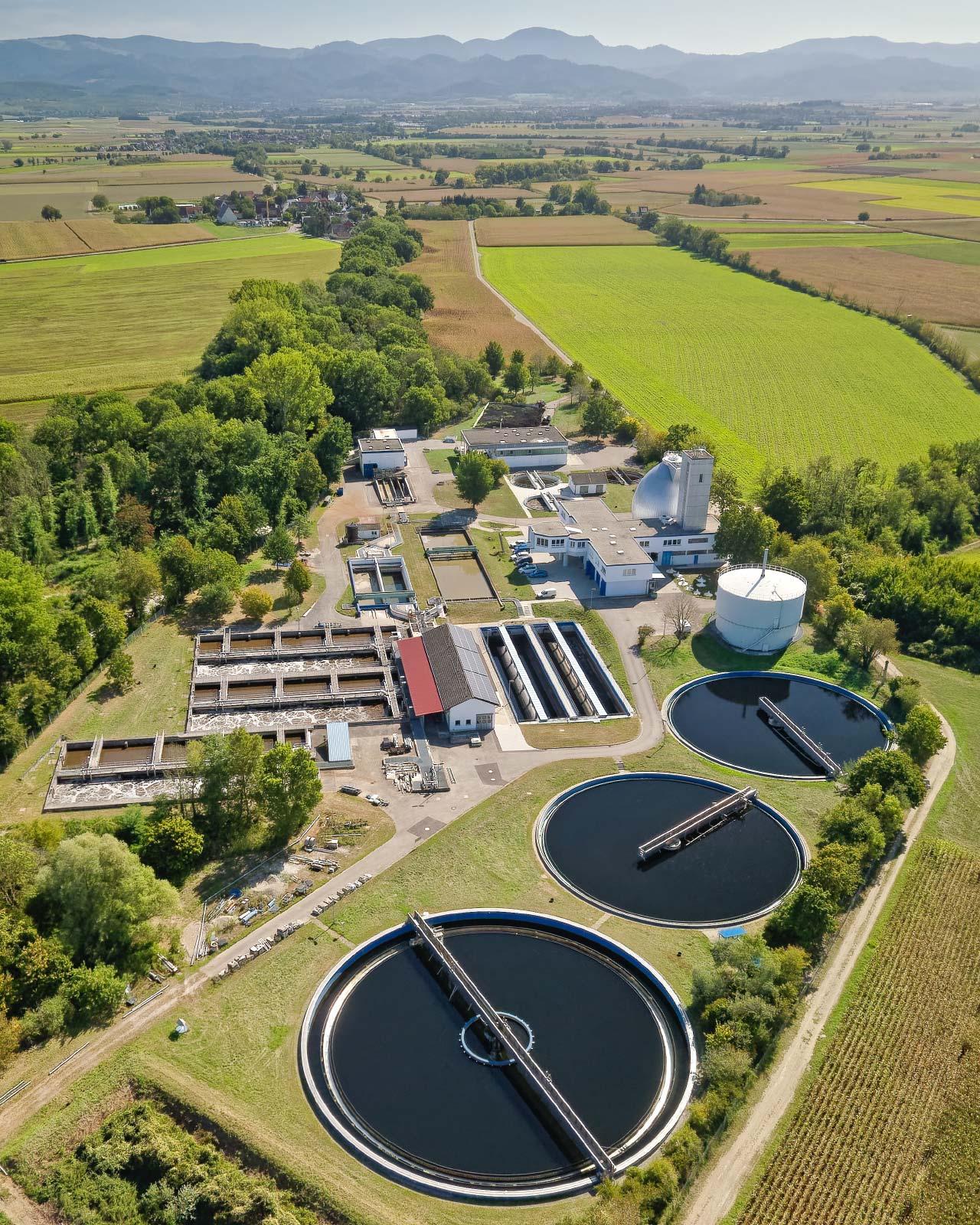 AZV Kläranlage-Luftbild